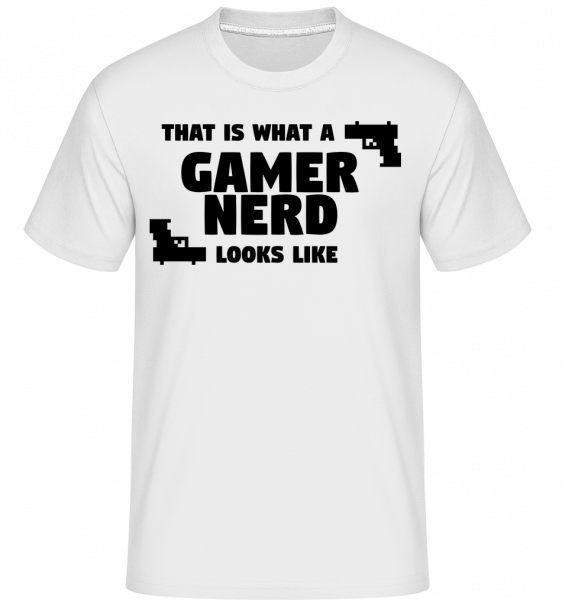 A Gamer Nerd Looks Like - T-Shirt Shirtinator homme - Blanc - Devant