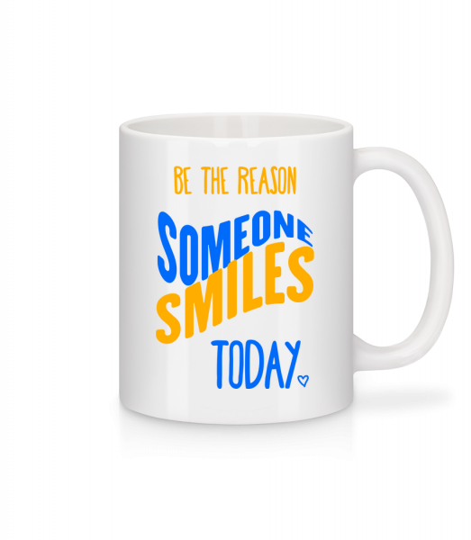 Be The Reason Someone Smiles Today - Mug en céramique blanc - Blanc - Devant
