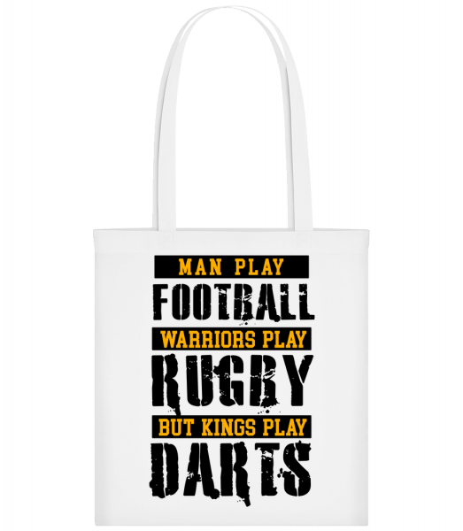 Kings Play Darts - Sac tote - Blanc - Devant