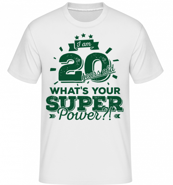 20 Years Super Power -  T-Shirt Shirtinator homme - Blanc - Devant