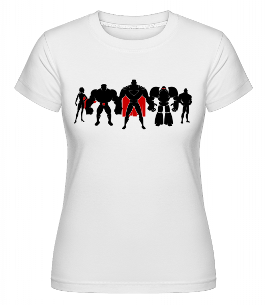 Superman League - T-shirt Shirtinator femme - Blanc - Devant