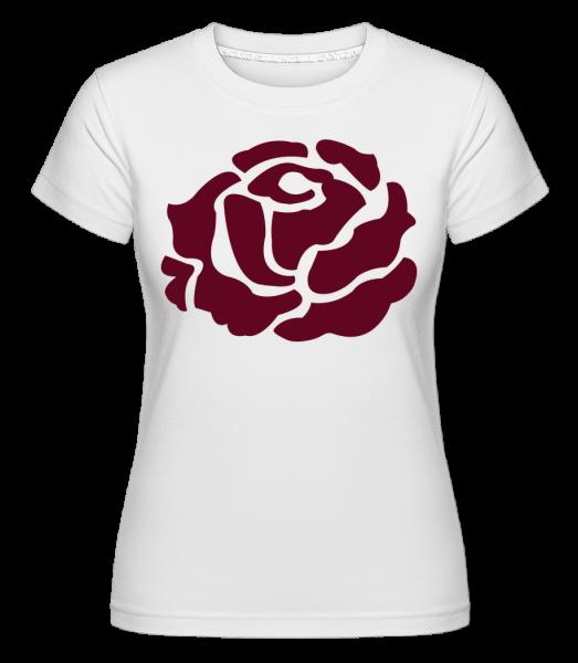 Red Rose - T-shirt Shirtinator femme - Blanc - Devant