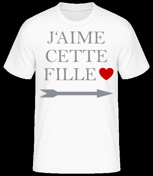 J'Aime Cette Fille - T-shirt standard homme - Blanc - Devant
