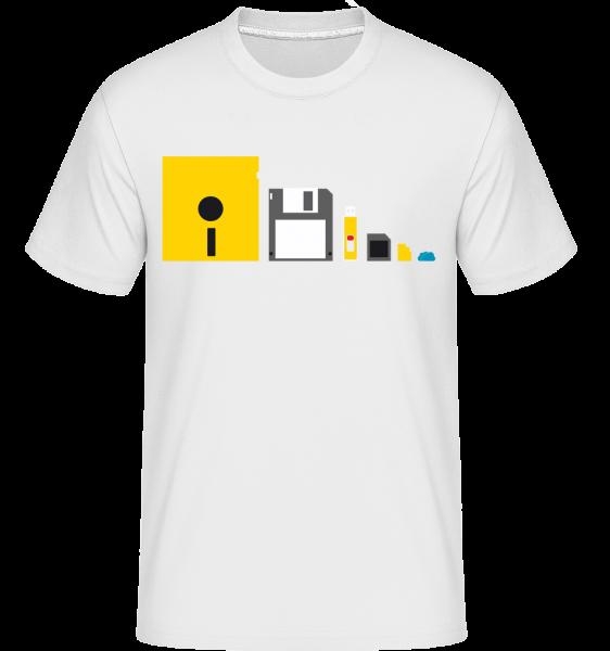 Évolution De La Technologie - T-Shirt Shirtinator homme - Blanc - Devant