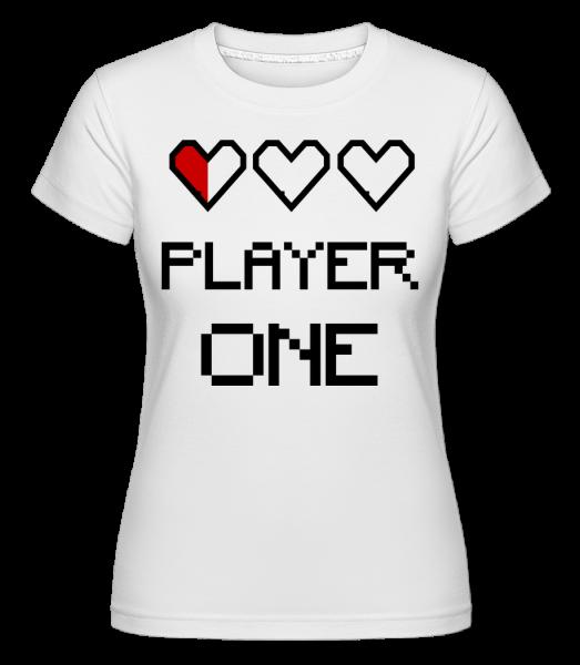 Player One - T-shirt Shirtinator femme - Blanc - Devant
