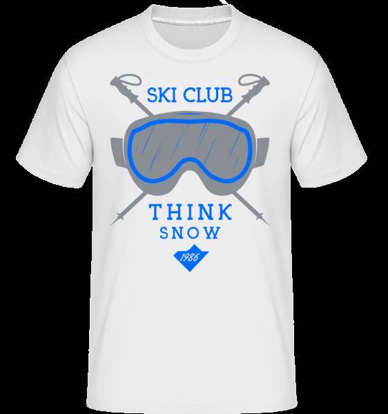 Ski Club Sign - T-Shirt Shirtinator homme - Blanc - Devant