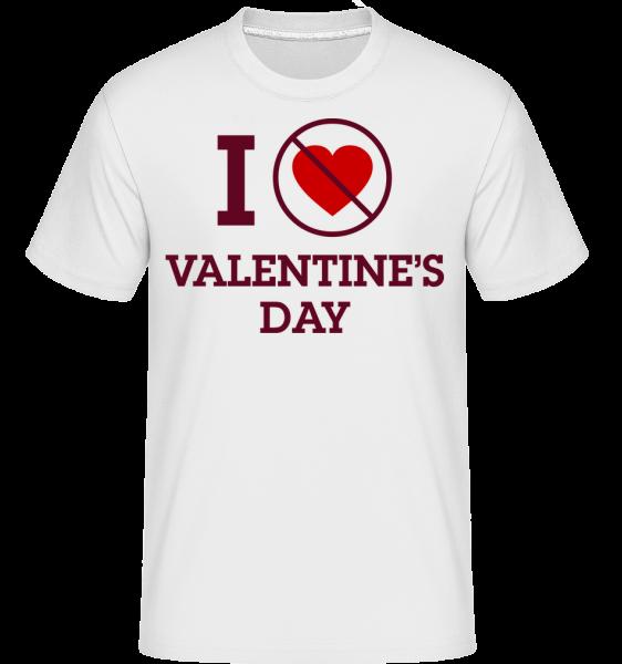 I Do Not Love Valentine's Day - T-Shirt Shirtinator homme - Blanc - Devant