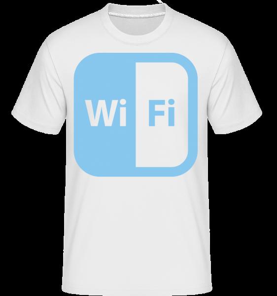 WiFi Icon Blue - T-Shirt Shirtinator homme - Blanc - Devant