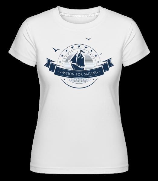 Passion For Sailing Logo -  T-shirt Shirtinator femme - Blanc - Devant