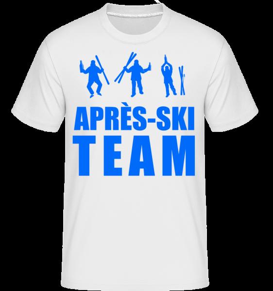 Après Ski Team - T-Shirt Shirtinator homme - Blanc - Devant