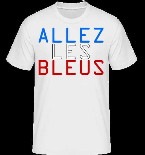 Allez Les Bleus - T-Shirt Shirtinator homme - Blanc - Devant