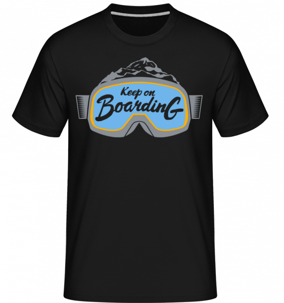 Keep On Boarding - T-Shirt Shirtinator homme - Noir - Devant