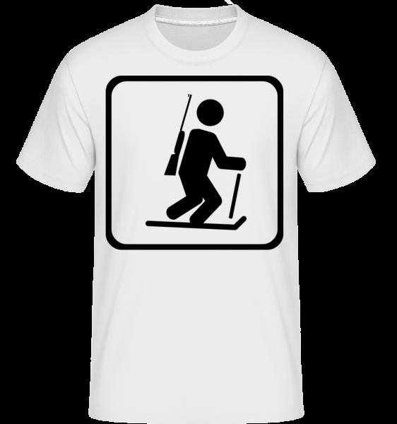 Biathlon Marque - T-Shirt Shirtinator homme - Blanc - Devant