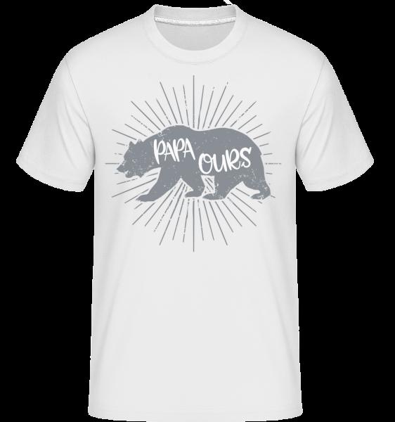 Papa Ours - T-Shirt Shirtinator homme - Blanc - Devant
