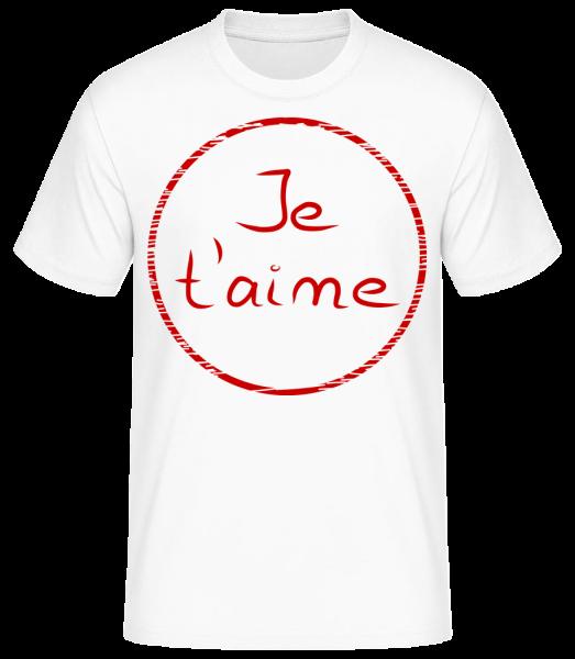 Je T'Aime - T-shirt standard homme - Blanc - Devant