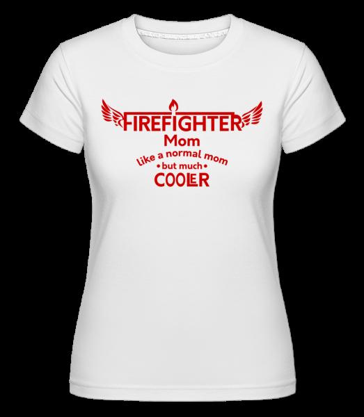 Cool Firefighter Mom - T-shirt Shirtinator femme - Blanc - Devant