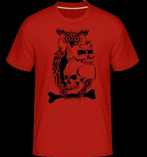 Tatouage De Crâne - T-Shirt Shirtinator homme - Rouge - Devant