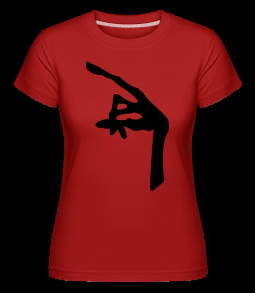Main D'Un Alien -  T-shirt Shirtinator femme - Rouge - Devant