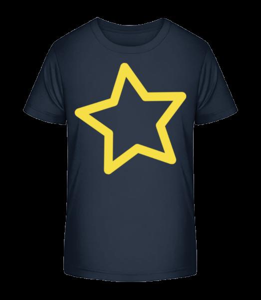 Star - T-shirt bio Premium Enfant - Bleu marine - Devant