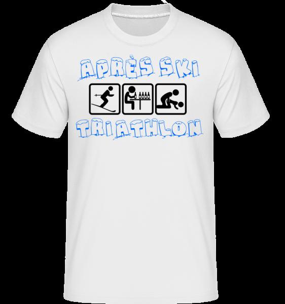 Après Ski Triathlon -  T-Shirt Shirtinator homme - Blanc - Devant