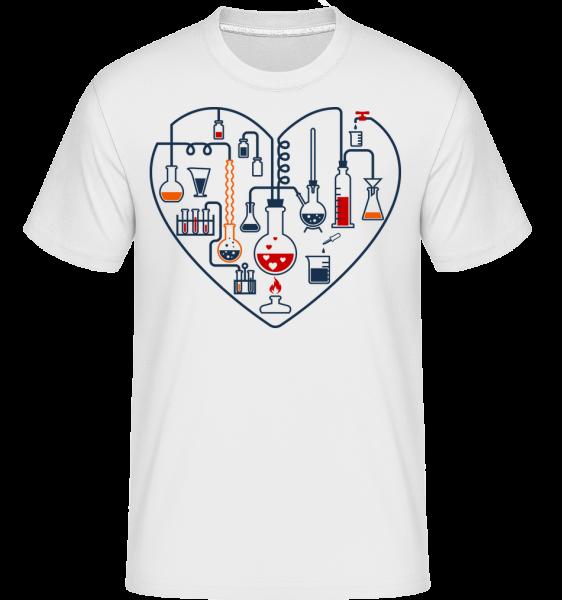 Amour Des Sciences - T-Shirt Shirtinator homme - Blanc - Devant
