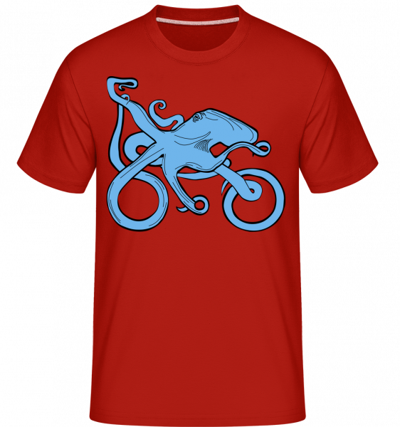 Motorcycle Octopus -  T-Shirt Shirtinator homme - Rouge - Devant