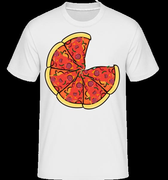 Pizza - T-Shirt Shirtinator homme - Blanc - Devant