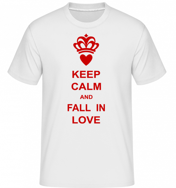 Keep Calm And Fall In Love -  T-Shirt Shirtinator homme - Blanc - Devant