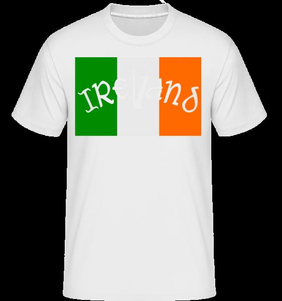 Ireland Flag -  T-Shirt Shirtinator homme - Blanc - Devant