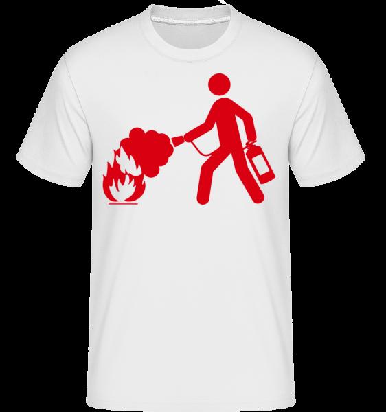 Firefighter Sign -  T-Shirt Shirtinator homme - Blanc - Devant