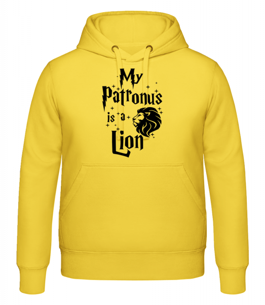 My Patronus Is A Lion - Sweat à capuche - Jaune - Devant