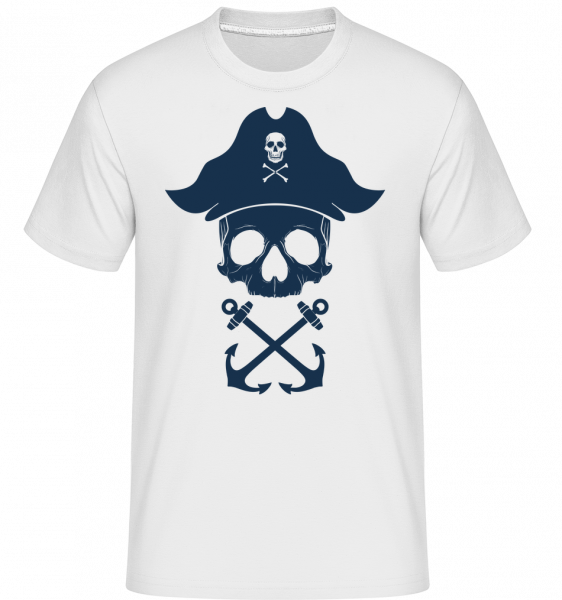 Crâne De Pirate - T-Shirt Shirtinator homme - Blanc - Devant