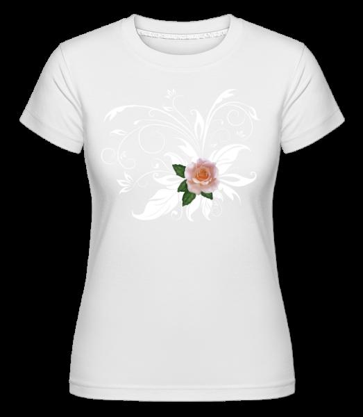 Rose Blanche - T-shirt Shirtinator femme - Blanc - Devant