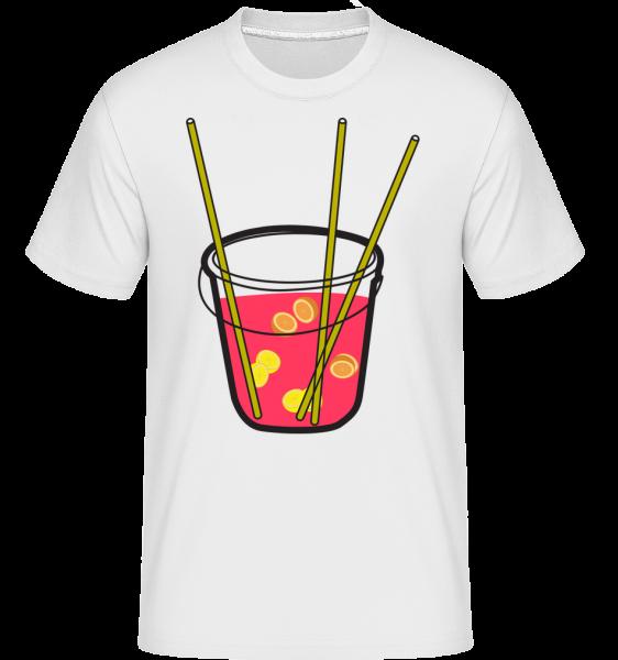 Sangria - T-Shirt Shirtinator homme - Blanc - Devant