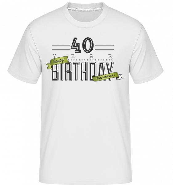 40 Birthday Sign - T-Shirt Shirtinator homme - Blanc - Devant