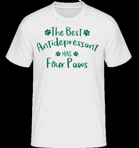 The Best Antidepressant - T-Shirt Shirtinator homme - Blanc - Devant