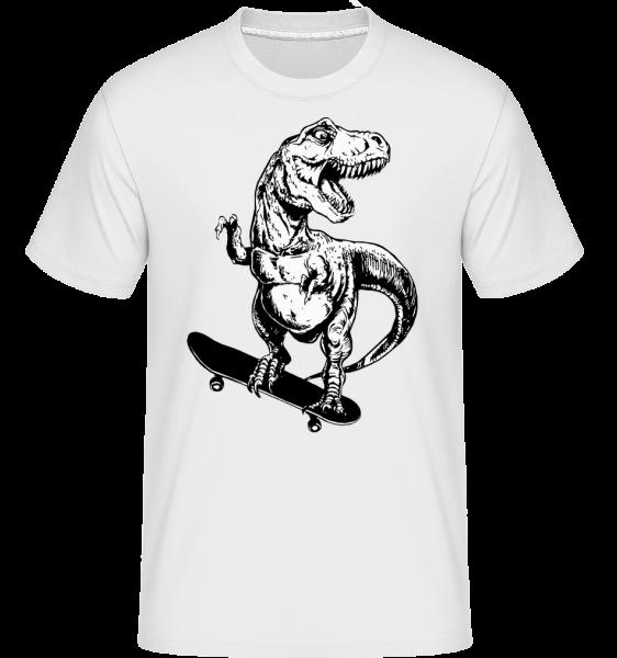 T-Rex Patineur -  T-Shirt Shirtinator homme - Blanc - Devant