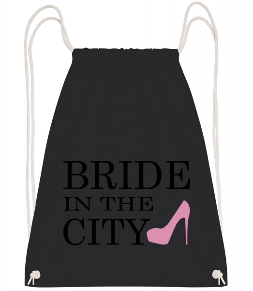 Bride In The City - Sac à dos Drawstring - Noir - Devant
