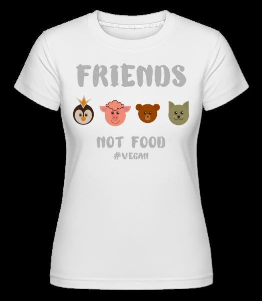 Friends Not Food -  T-shirt Shirtinator femme - Blanc - Devant