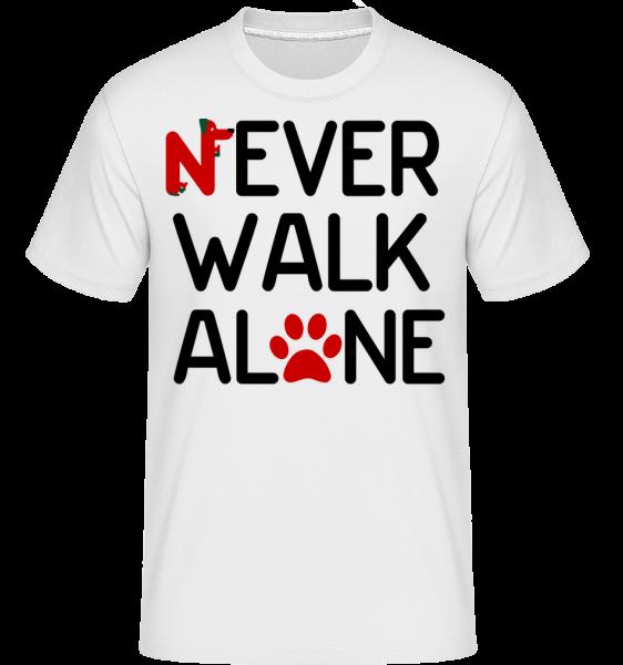 Never Walk Alone - T-Shirt Shirtinator homme - Blanc - Devant