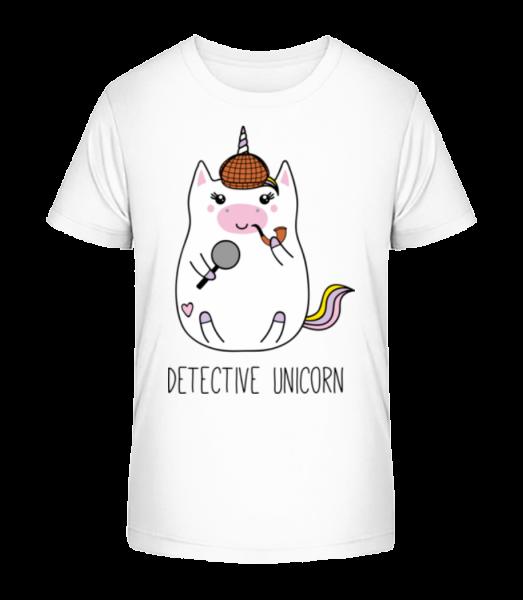 Detective Unicorn - T-shirt bio Premium Enfant - Blanc - Devant