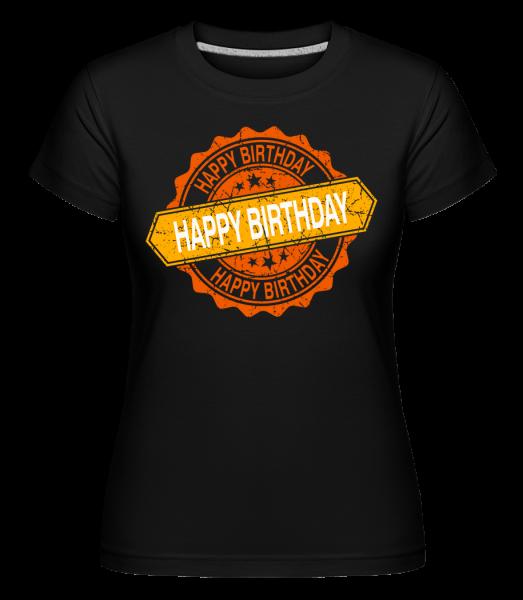Happy Birthday Logo -  T-shirt Shirtinator femme - Noir - Devant