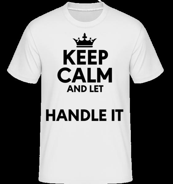 Keep Calm - T-Shirt Shirtinator homme - Blanc - Devant