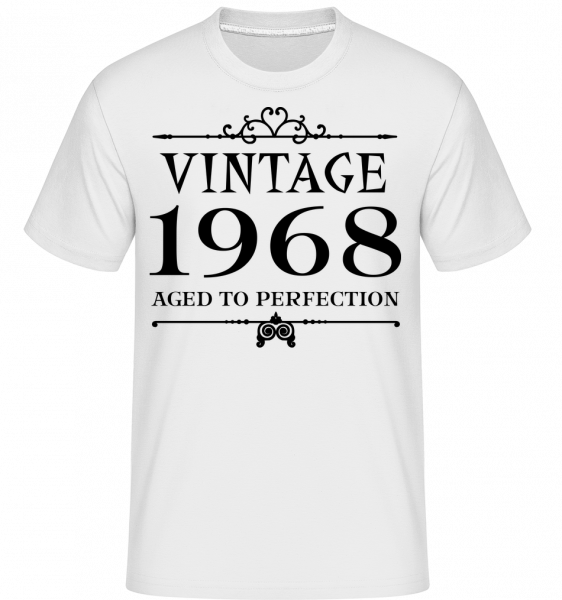 Vintage 1968 Perfection - T-Shirt Shirtinator homme - Blanc - Devant