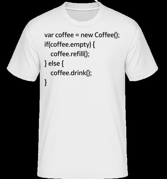 PHP Coffee - T-Shirt Shirtinator homme - Blanc - Devant