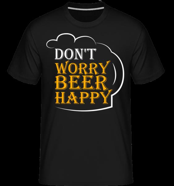 Beer Happy -  T-Shirt Shirtinator homme - Noir - Devant