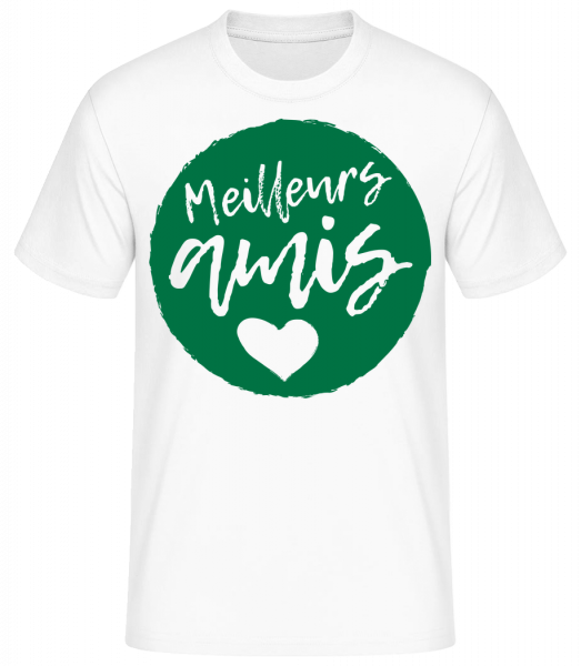 Meilleurs Amis - T-shirt standard homme - Blanc - Devant