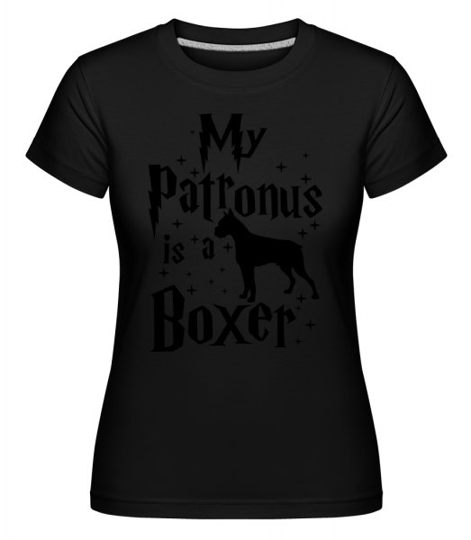 My Patronus Is A Boxer -  T-shirt Shirtinator femme - Noir - Devant
