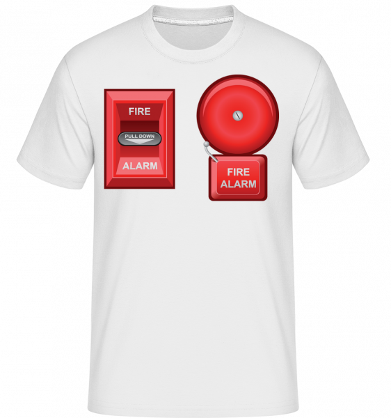 Fire Protection Symbol - T-Shirt Shirtinator homme - Blanc - Devant