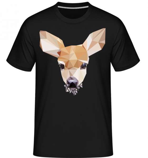 Polygon Cerf - T-Shirt Shirtinator homme - Noir - Devant